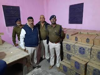 मोतिहारी पुलिस को मिली बड़ी सफलता, 225 कार्टून विदेशी शराब बरामद,एक गिरफ्तार