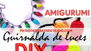 Guirnalda de Luces Tejidas a Crochet para Navidad 🎄 con Video Tutorial