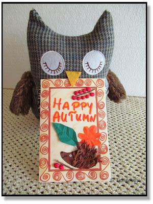 Herbstpost, selbstgebastelte Karte, Karte basteln