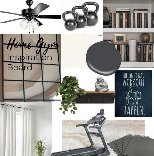 Home Gym Design Board