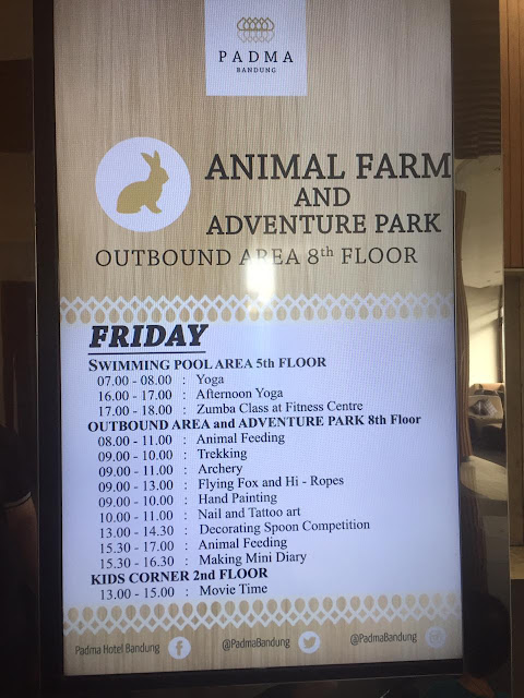 Jadwal aktivitas di Padma Bandung