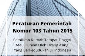 Peraturan Pemerintah Nomor 103 Tahun 2015