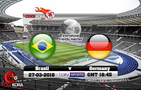 مشاهدة مباراة ألمانيا والبرازيل اليوم 27-3-2018 مباراة ودية
