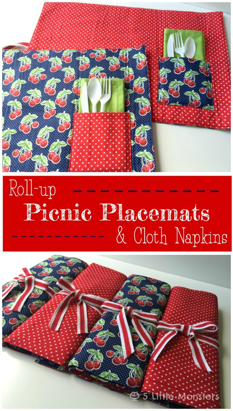 Roll Up Picnic Placemats