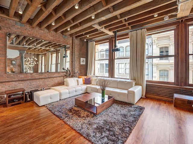Ruang tamu interior elemen kayu prospera jaya
