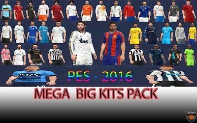 Pes 2016 Mega Big Pack Kits by DzhonX Источник: http://pes-files.ru/