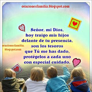 oracion para que Dios proteja a mis hijos los cuide