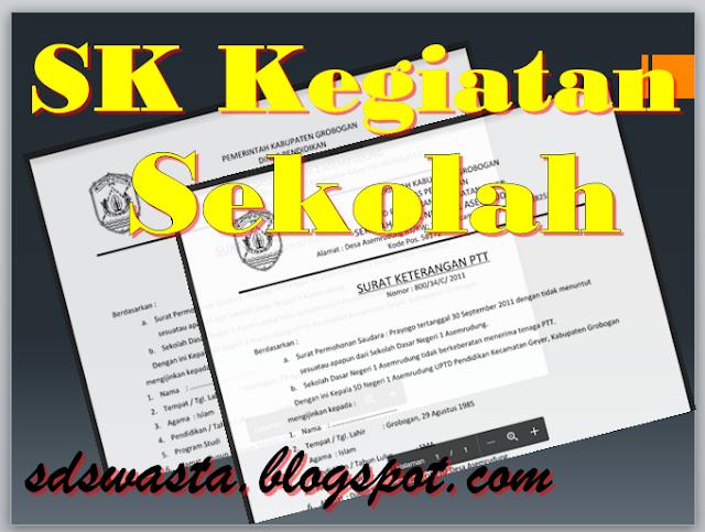 Download Contoh SK Kegiatan Sekolah/Madrasah Format Word