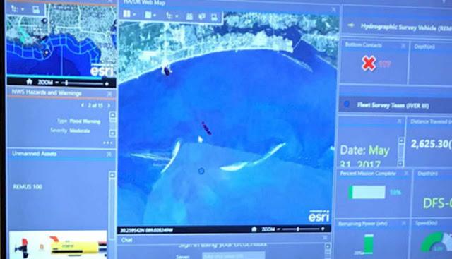 Angkatan Laut AS menggunakan teknologi Esri untuk operasional intelijen kendaraan tak berawak