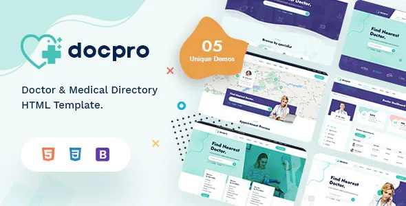 Best Doctors directory and Book Online Template