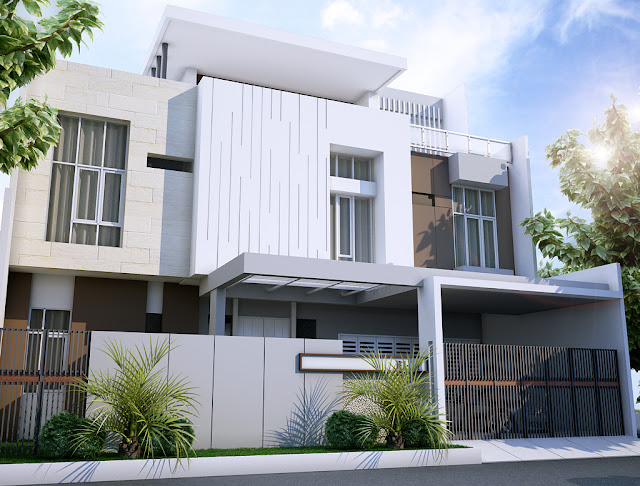 Desain Rumah Tinggal Villa Citra II Lampung