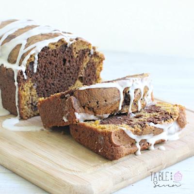 Dark Chocolate Swirled Pumpkin Bread