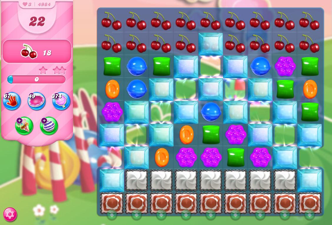 Candy Crush Saga level 4984
