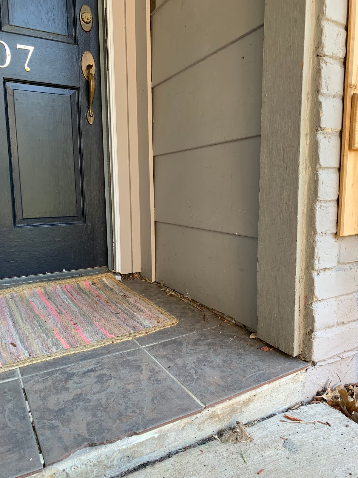 A curb appeal update with Schlage Encode Smart Locks: Before | House Homemade