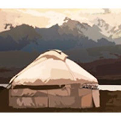Yourte mongole, steppe et désert