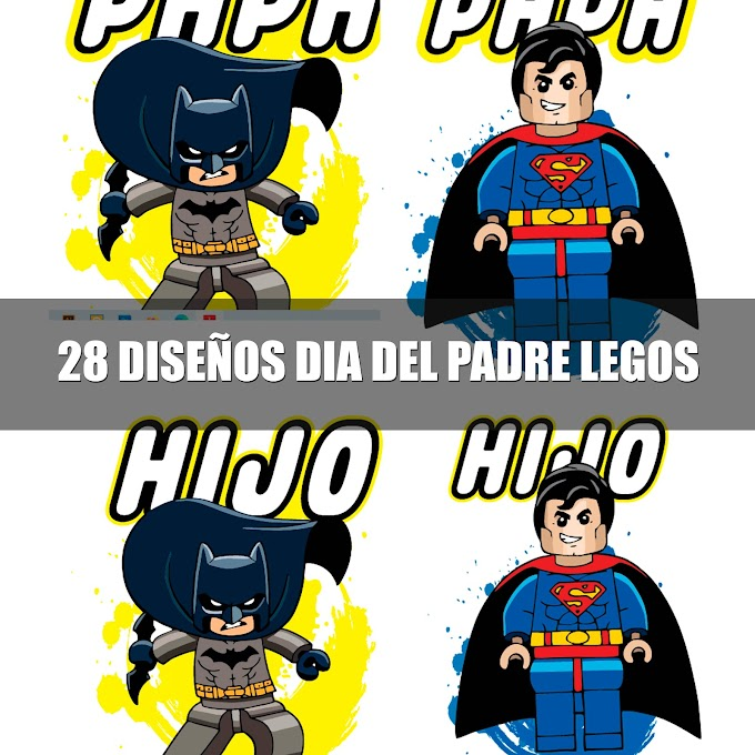 ▷ DISEÑOS PARA EL DÍA DEL PADRE LEGO | 28 VECTORES