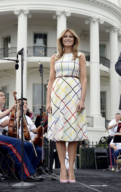 Melania Trump is shining bright at the Congressional Picnic on the White House's lawn