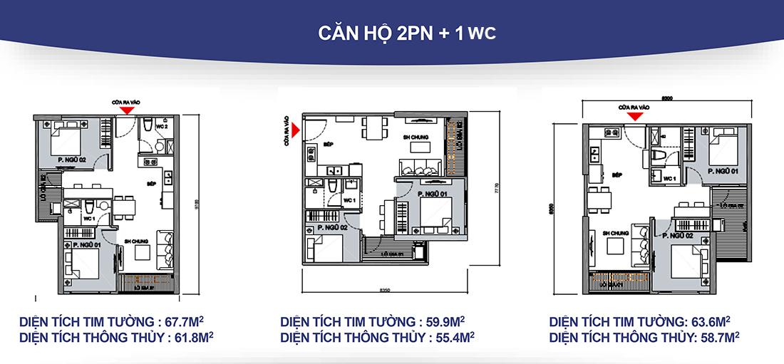 Thiết kế căn hộ điển hình Vinhomes Ocean Park Gia Lâm