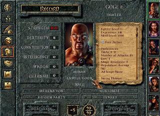 Creazione personaggio Baldur's Gate