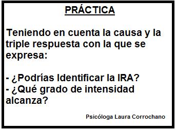 Práctica: Identifica la ira Fuente: Laura Corrochano
