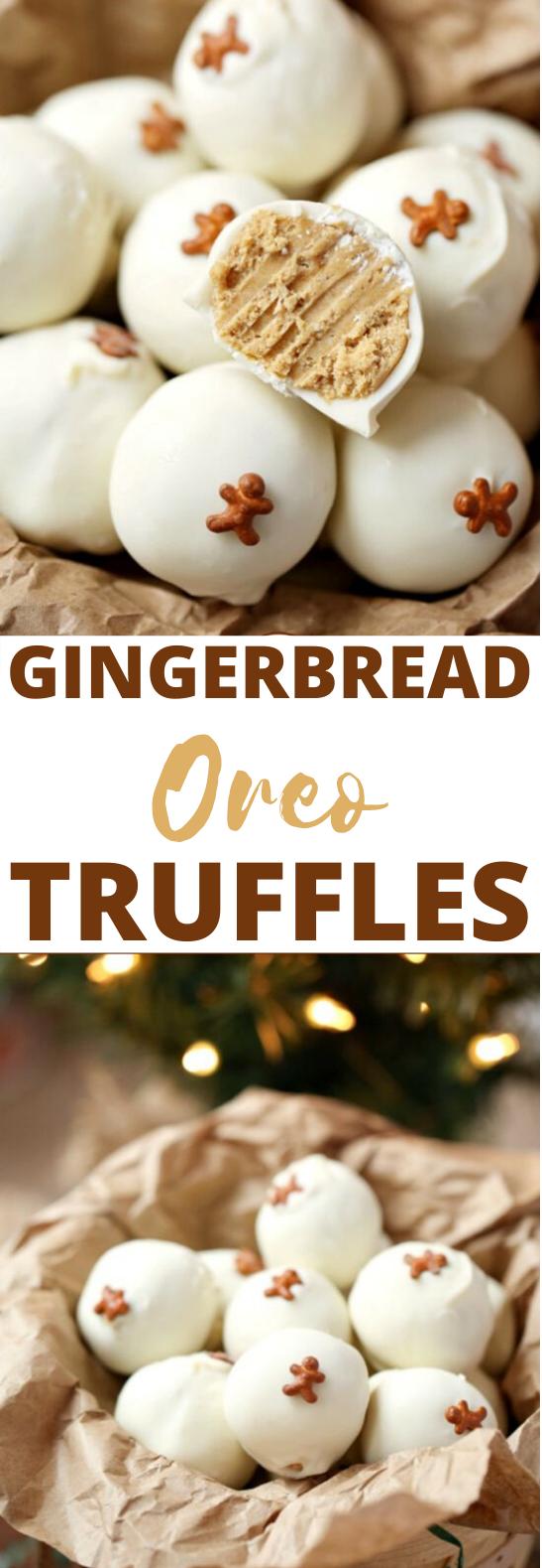 Gingerbread Oreo Truffles #desserts #nobake #christmas #gifts #thanksgiving