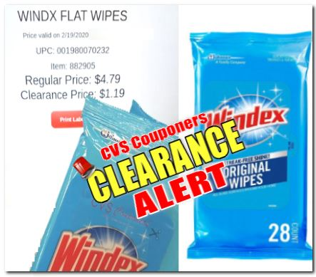 windex wipes cvs clearance deal