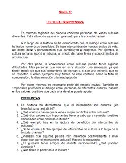BANCO DE LECTURAS PARA EL TERCER CICLO DE PRIMARIA