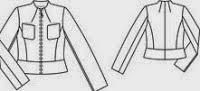 Patrón gratis: chaqueta de Burda