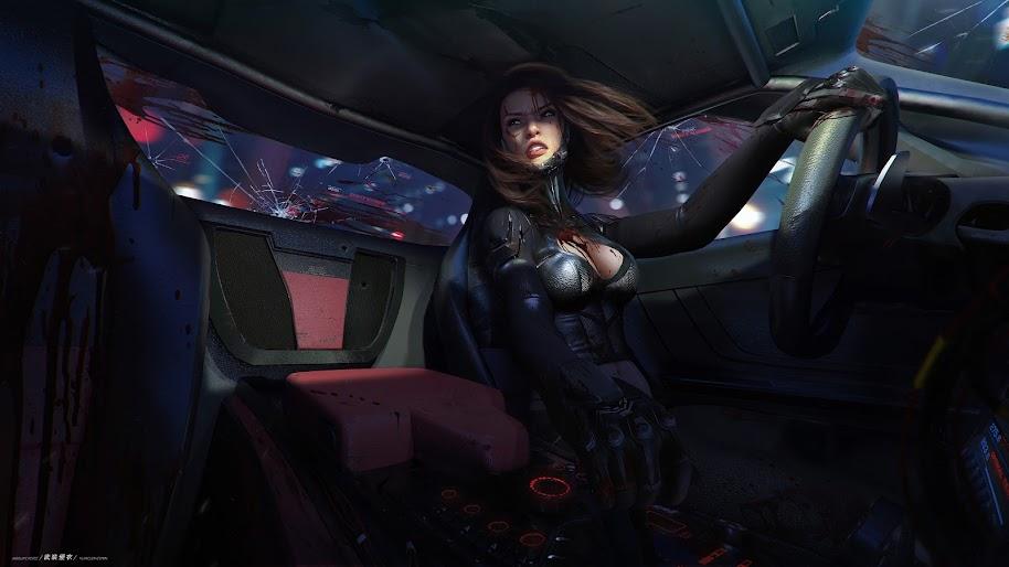 Sci-Fi, Girl, Driving, 4K, #66