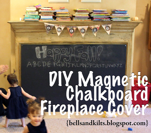 Texas Tales Diy Magnetic Chalkboard Fireplace Cover