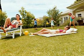 Sunbathing:  A Relaxing Backyard Activity