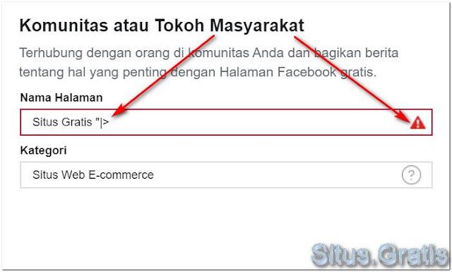 tidak-diperbolehkan-menggunakan-nama-halaman-facebook-dengan-symbol