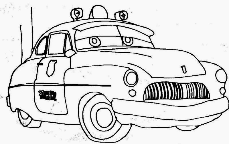Gambar mewarnai mobil mcqueen untuk anak