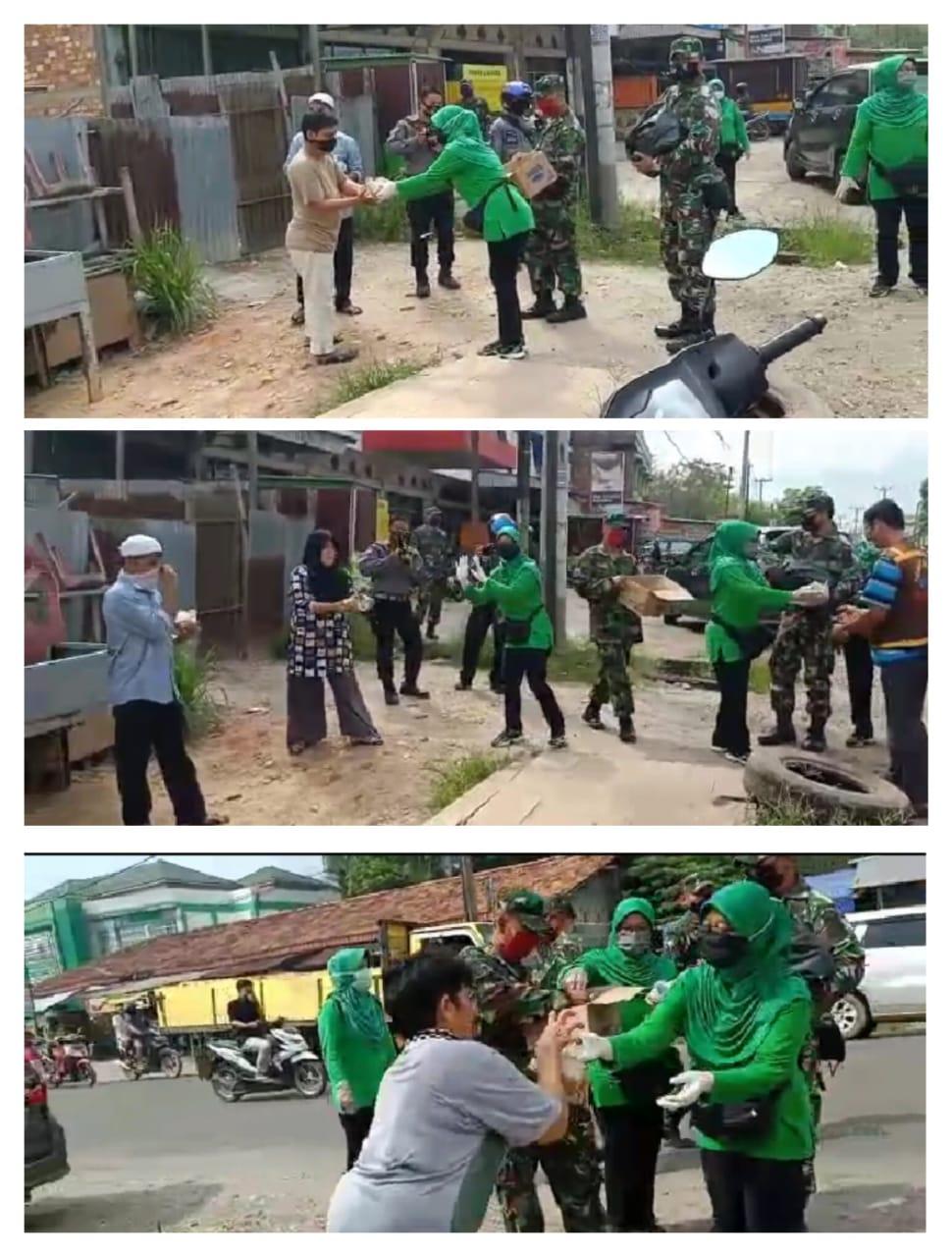 Kodim 0415/BTH Laksanakan Kegiatan Jumat Berkah Dengan Berbagi Sembako dan Masker
