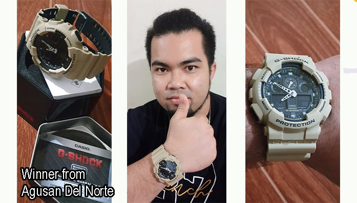 Winner of G-Shock Watch December 2019