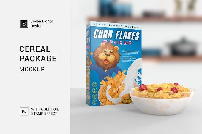 7 Design unique Cereal Package Mockup
