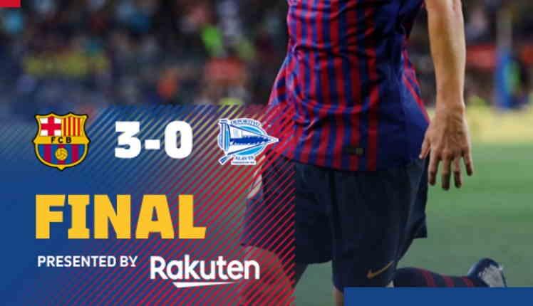 Hasil Barcelona vs Alaves Skor Akhir 3-0 [ Laliga 2018 ]