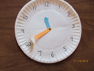 Telling Time to the Five Minutes DIY