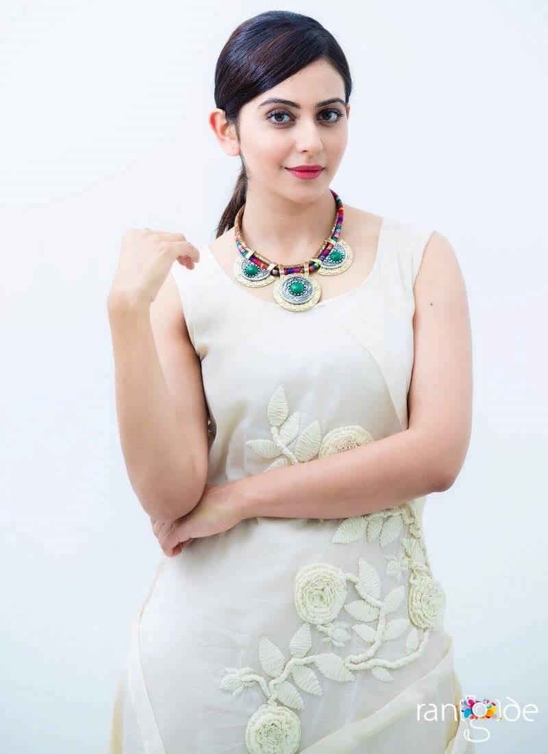 Rakul Preet Singh Photos Shoot In White Dress 2017
