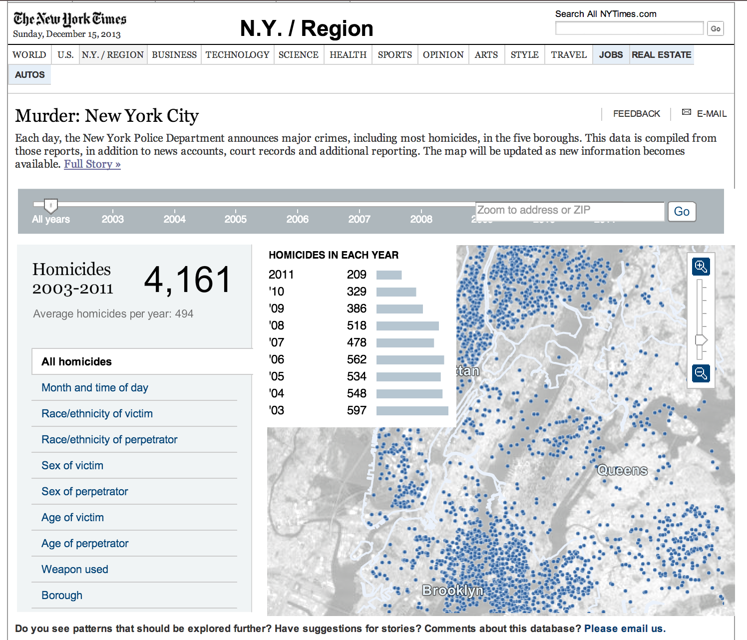 as far as i know nyc is the only large metropolitan city in the usa maybe the world that publishes its crime data like this in a way for citizens
