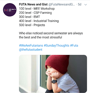 Futa courses second semester