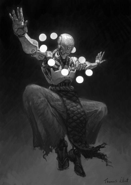 Thomas Elliott artstation deviantart arte ilustrações ficção científica sombria games