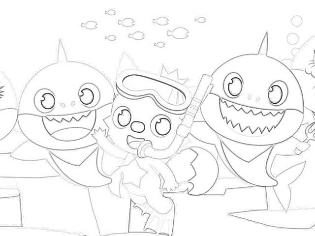 Coloring Pages: Baby Shark Fingerling Coloring Pages Free ...