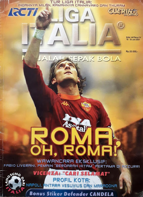 FRANCESCO TOTTI OF AS ROMA FOOTBALL MAGAZINE