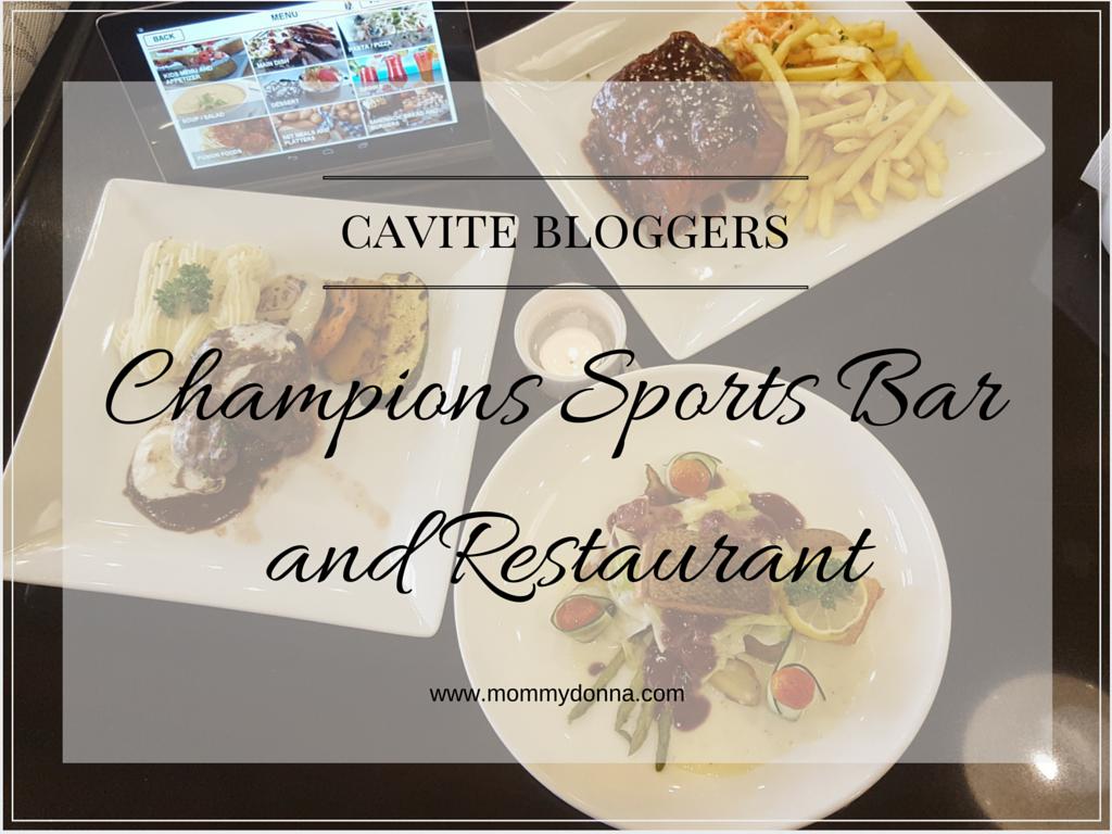 Champions Sports Bar And Restaurant Cavite Menu