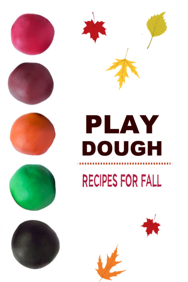 This no-cook play clay recipe is perfect for autumn arts and crafts.  Add Fall scents like pumpkin and apple to easily make a variety of fun dough for kids to use in activities. #fallplaydough #fallplaydoughrecipes #fallcrafts #nocookplaydoughrecipes #nocookplaydough #nocookclayrecipe #playclay #pumpkinclay #appleplaydough #fallclayprojects #growingajeweledrose #activitiesforkids