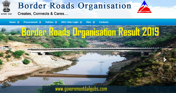BRO Driver, KDC, Electrician Vehicle Mechanic MSW Cook Result 2019