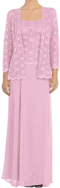 Pink Long Mother of The Bride Dresses