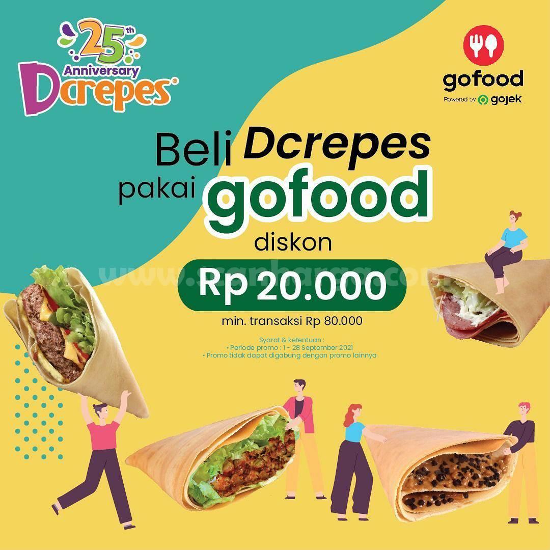 Dcrepes Promo Diskon Rp. 20.000 via Gofood