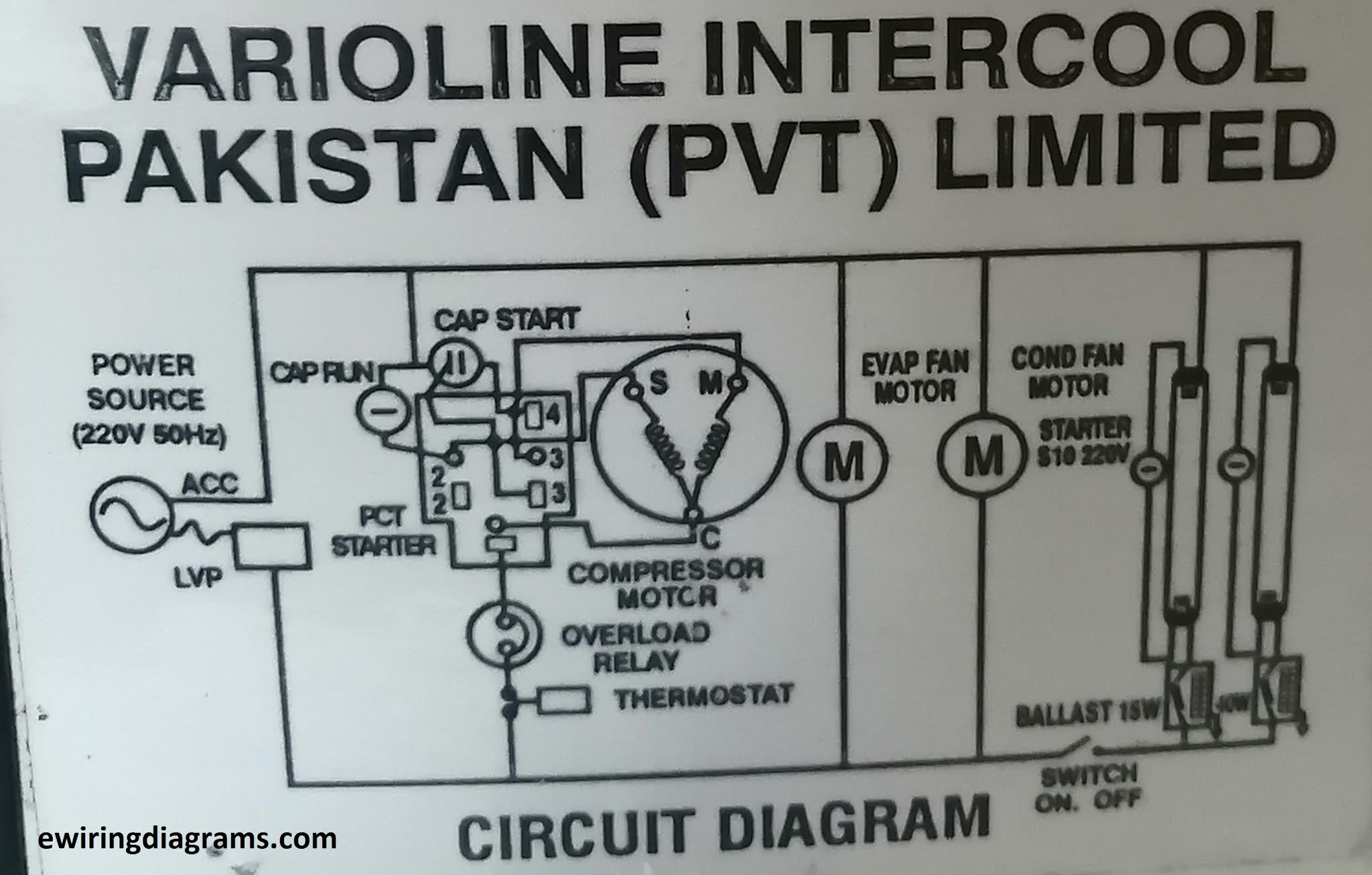 Refrigerator Showcase Wiring Diagram